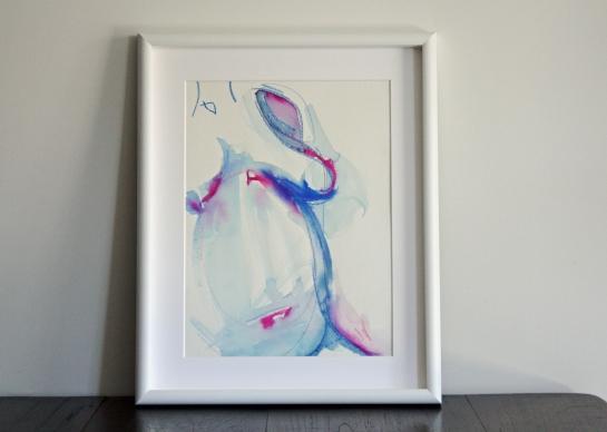 Blue Nude Study by Leah Gay 2004 in situ