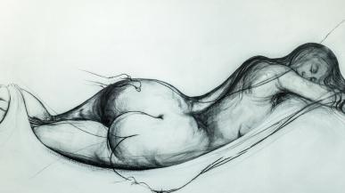 brett whitely reclining nude 1974