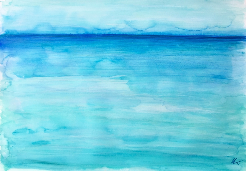 Turquoise Horizon by Leah Gay 2017