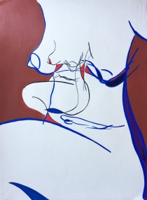 Abstract Nude in Lines by Leah Gay 2004