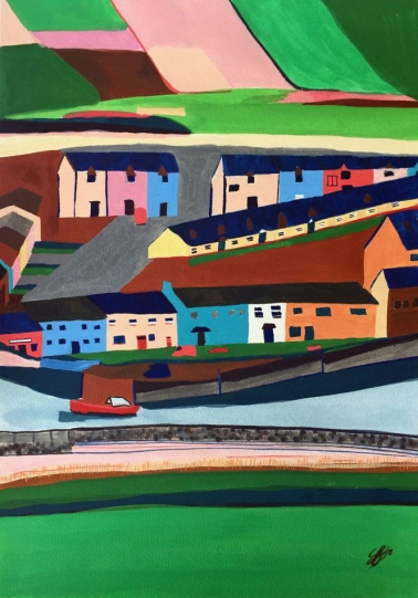 Irish Village of Kerry by Leah Gay (SOLD)