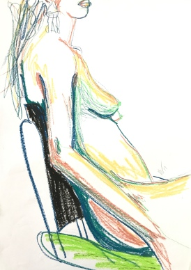 Seated Nude by Leah Gay
