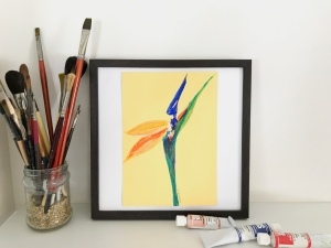 Bird of Paradise Yellow by Leah Gay 2018 in situ 2